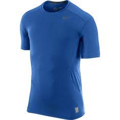 NIKE PRO COMBAT CORE 2.0 FITTED MENS SHORT SLEEVE CREW SHIRT Royal Blue XXL NWOT #Nike #ShirtsTops