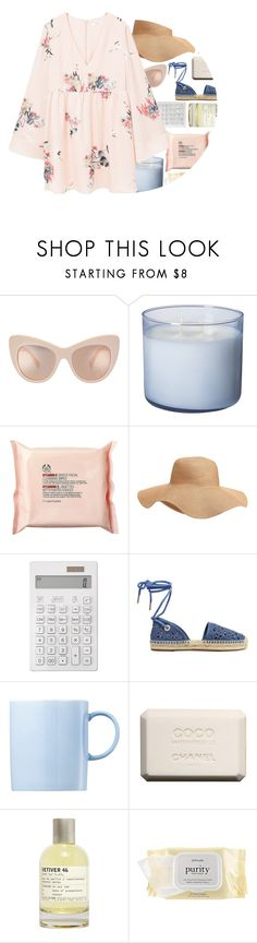 """""""la la la"""" by maevekaterina ❤ liked on Polyvore featuring The Body Shop, Old Navy, Muji, MICHAEL Michael Kors, Rosenthal, Chanel, Le Labo, philosophy, MANGO and StreetStyle"""