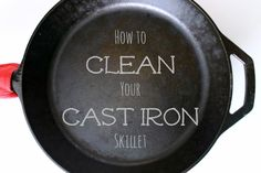 How to Properly Clean and Season Your Cast Iron Skillet - White Lights on Wednesday proper clean, iron skillet, irons, idea, cleanses, season, food, kitchen, cast iron