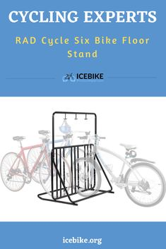 The RAD floor stand is easily one of our tips, it is quite unique and fun to use. It is unique for many reasons actually, first of all, you can store bikes in different directions, some on the left and some on the right. Secondly, it also has hooks that you can use to store the bike helmets, this should come in extremely handy. #bikes #roadbikes #mountainbikes #hybridbikes #electricbikes #comportbikes Bike Floor Stand, Bike Storage, Road Bikes, Mountain Biking, Flooring, Bike Storage Rack, Wood Flooring, Bicycle Storage, Floor