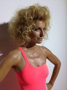 Federica Fontana, behind the scenes Maxim shooting, curly hair by Elisa Rampi, www.elisarampi.com