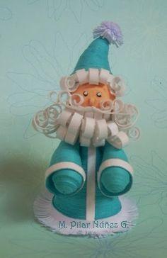 3d Quilled Santa
