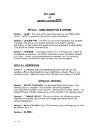 Pto Today Treasurer Job Description Sample  Pto