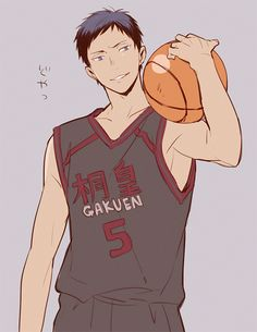 Aomine Daiki - that hot small forward from Touo. Perverted, but still super hawt. Idk why, but I have a thing for tan guys... Guess I'm just weird.