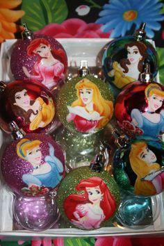 Sparkly Disney Princess Christmas ornaments #DisneyPrincessWMT ...