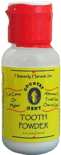 Country Gent Tooth Powder an Alternative to Toothpaste 1 Oz. Teeth Care, Skin Care, Tooth Brushing, Tooth Powder, Dental Supplies, Calcium Carbonate, Sodium Bicarbonate, Oral Hygiene, 1 Oz