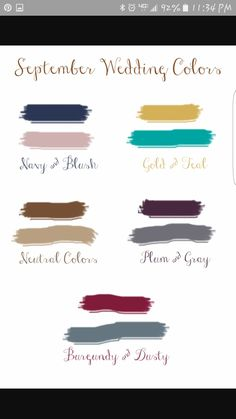 September wedding colors