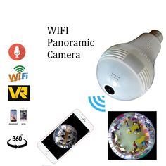 """HOT PRICES FROM ALI - Buy wifi Panoramic 360 degree camera Wireless Light bulb Fisheye Camera cctv Smart Home VR Security Bulb wifi camera"""" from category """"Security & Protection"""" for only USD. Home Security Monitoring, Wireless Home Security Systems, Smart Home Security, Security Alarm, Security Cameras For Home, Alarm Monitoring, House Security, Security Gadgets, Security Products"""