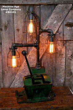 Vintage John Deere gearbox steampunk lamp