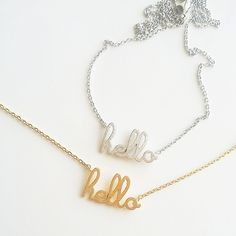 hello necklace coming to Sweet Peaches!