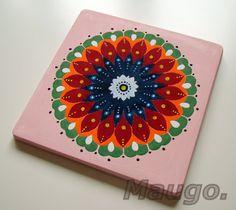 Mandala - decoration from plaster