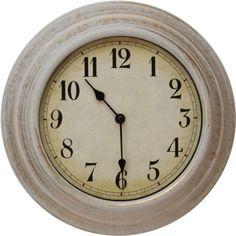Wall Clock with Arabic Dial - Cream.