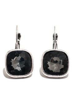The perfect blend of security, comfort and style, these lever back earrings add a lovely accent of sparkle to your look. Available in white and grey crystal.    Measures ½ inch wide, 1 inch drop   Square Lever Back by Ottoman Imports. Accessories - Jewelry - Earrings Kentucky
