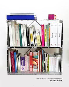 Modular Aluminum Bookshelf #monstructure #modular #modularfurniture  #aluminumfurniture #bookshelf #shelving #