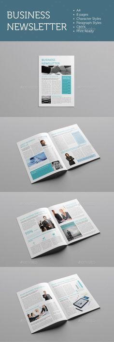 Business Newsletter DIN A4 Newsletter templates, Print templates - business newsletter