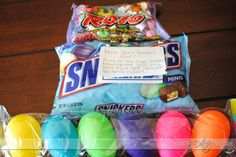 Cute! This website is awesome. This is an idea for a grown-up version of an Easter egg hunt.... They have great, easy ideas on this site.