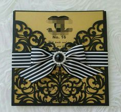 Check out this item in my Etsy shop https://www.etsy.com/listing/468502790/gold-and-black-chanel-invitation