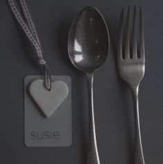 Porcelain Heart Tag - Wedding Place Setting Name, Wedding Favour, Wedding Escort Card