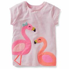 Carter's Flamingo Appliqué Tee size 6 | Spring 2014