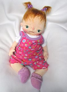 Stella a One of a Kind Soft Sculpture Baby by bebebabiesmexico