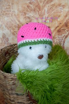 Crochet Watermelon Hat by JLloPhotographyProps on Etsy, $15.00