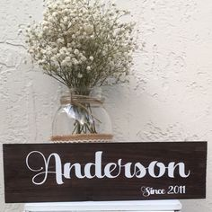 New last name sign!