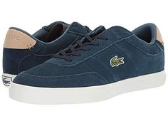 LACOSTE , NAVY/NATURAL. #lacoste #shoes Lacoste Men, Lacoste Shoes, Lacoste Trainers, Natural Man, Smart Styles, Free Clothes, Keds, Suede Leather, Crocs