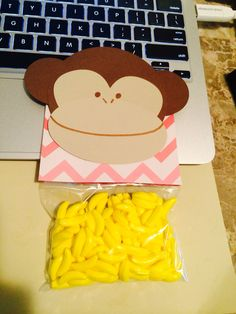 I'm bananas for you. So cute for valentines Day! #vday #valentinesday #diy #crafts #monkey #babyshower