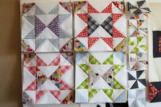 I Love This Quilt: Starring Repros! Site has a free pattern