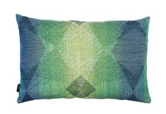 Lepidoptera fluo green cushion