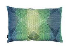 Lepidoptera fluo green cushion