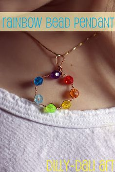 another easy craft necklace for teen/tween girls. - would be awesome as girl scout friend circle!