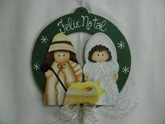 Guirlanda md sagrada família   Artesanatos Ingrid Carvalho   193E2B - Elo7