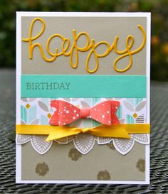 Krystal's Cards: Petal Potpourri Tulare Class Birthday Card #3