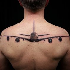 tattoo airplane - Pe