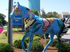 Painted Horse Statue, Outer Banks, Duck, North Carolina.  Artwork by: Unknown Photograph by: Jenn Dixon