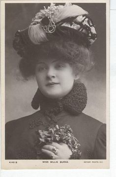Miss Billie Burke, wearing a fancy hat Postcard