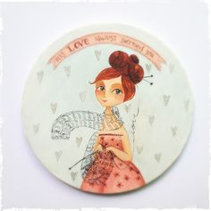 elsbeth eksteen: may love always surround you Claudia Tremblay, Painted Plates, Cute Doodles, Love Always, Pattern Illustration, Whimsical Art, Art Pictures, Painting & Drawing, Needlepoint