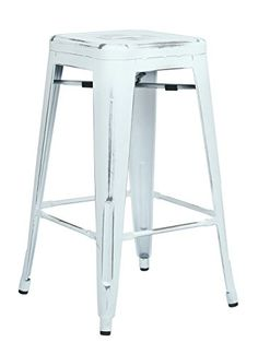 "Office Star Bristow 26""Antique Metal Barstool in Antique White - Set of 2 Office Star http://www.amazon.com/dp/B00P2TH7XC/ref=cm_sw_r_pi_dp_mxlEub198KSEB"