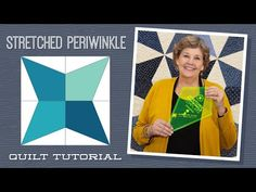Stretched Periwinkle Quilt