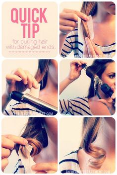 ❕✨Quick Tip For Curling Hair With Damaged Ends✨❕