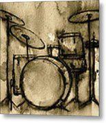 Vintage Drums Metal Print