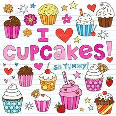 depositphotos_8072544-Cupcake-Doodles-Vector-Illustration-Design-Elements.jpg 1,024×1,024 pixels