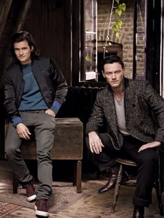 Orlando Bloom & Luke Evans, aka twins that have been separated from birth.