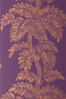 Anna French Glamour Wallpaper Wisteria-Brown/Gold on Violet