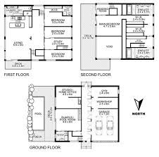 Floor plan of Graceville container shipping house home in Brisbane using 31 containers.