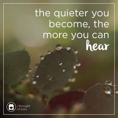 Quiet people have the loudest minds. The quieter you become, the more you can hear. #inspiration #motivation #quote #spreadhope