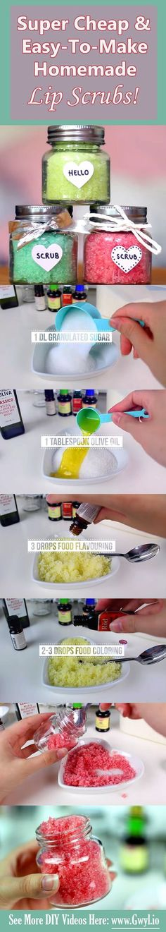 See, you wouldn't even sweat in doing this. See video and written instructions here! Materials included ==>| http://gwyl.io/super-cheap-easy-make-homemade-lip-scrubs/ | Super Cheap & Easy-To-Make Homemade Lip Scrubs!