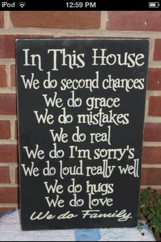 A great family sign