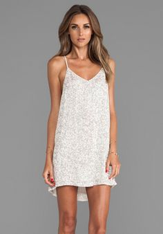 MLV Carmen Beaded Cami Dress in Ivory